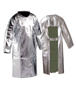 Heat & Fire Resistant Aluminized Fibreglass Apron with Sleeves (APALF)