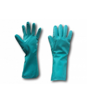 Nitrile Gloves with Flocklining and Embossed Fingers (IGTLM9)