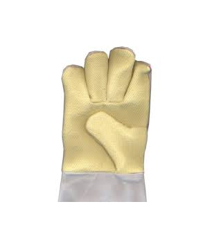 Leather cum Kevlar cut-and-sewn Glove with woollen lining (K1GL)