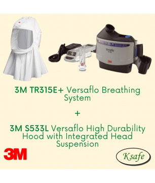 3M Versaflo Powered Air Starter Kit TR-315E+ with S533L High Durabilit...