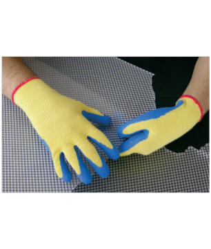 Knitted Gloves with Dyed Liner and Crinkled Latex Coating (KSGGC)