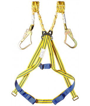 Karam KI-01 Class A Harness with Double PP Lanyard and Steel Scaffold ...