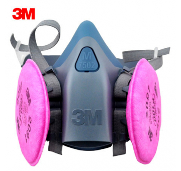 3M 7502 Half Face Respirator with 2091 P100 Particulate Filters (1 Pai...