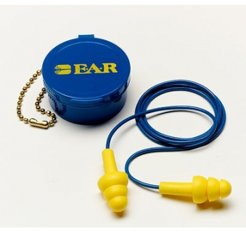 3M 340-4002 E-A-R UltraFit Corded Reusable Earplugs with Carrying Case